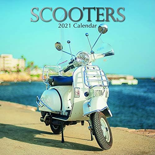 Scooters 2021 - 16 Month Square Wall Calendar