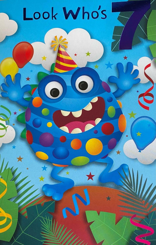 7 Monster Birthday Card
