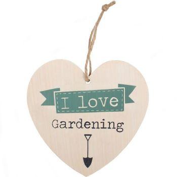 I Love Gardening Shabby Chic Heart
