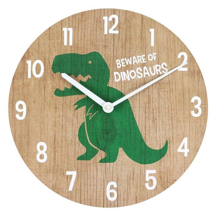 Round Dinosaur Clock