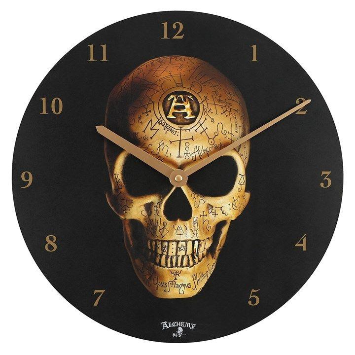 Omega Skull Clock