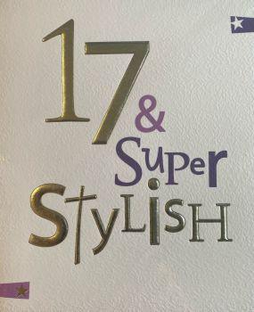 17 & Super Stylish Birthday Card