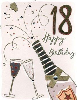 Extra Large Happy 18th Birthday Card