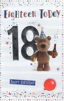 18 Today Happy Birthday Card