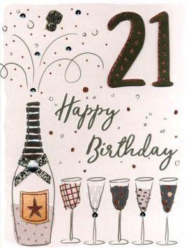 Extra Large Happy 21st Birthday Card