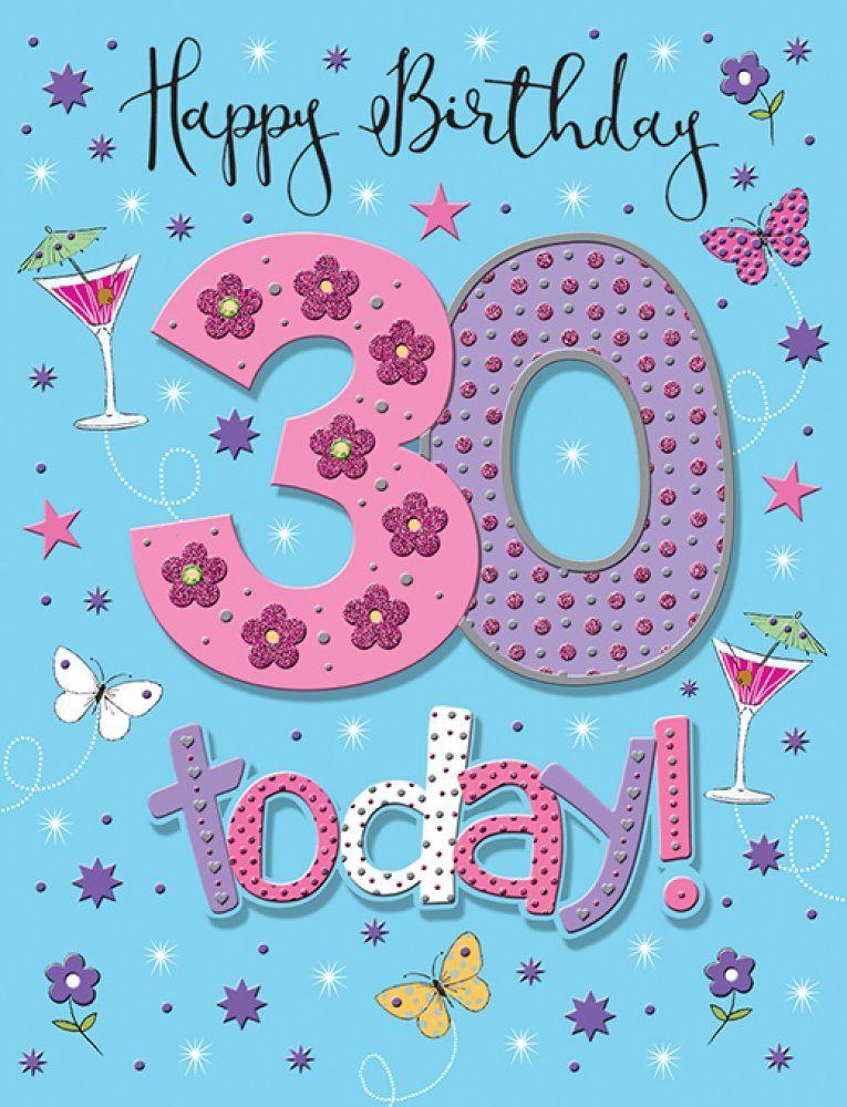 Handmade Happy Birthday 30 today! Birthday Card