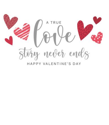 A True Love Story Never Ends Happy Valentine's Day Card