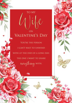 To My Wife On Valentine's Day Card