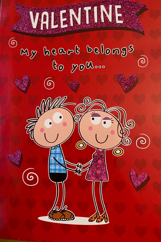 Valentine My Heart Belongs To You.... - Card
