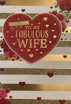 With Love To My Fabulous Wife - Valentine's Card
