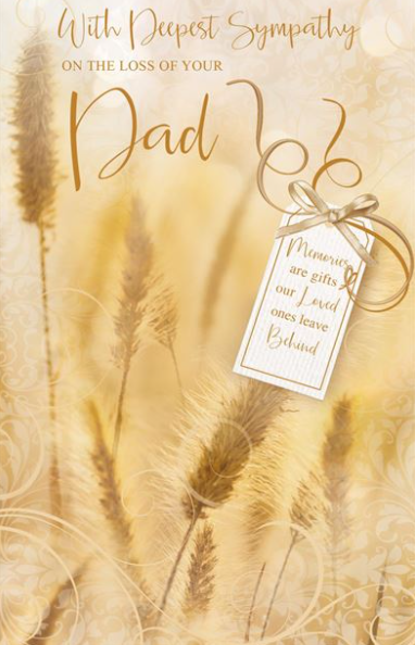 With Deepest Sympathy On The Loss Of Your Dad - Card