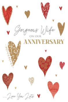 Gorgeous Wife On Our Anniversary ... Love You Lots - Card