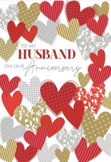 To My Husband On Our Anniversary - Card