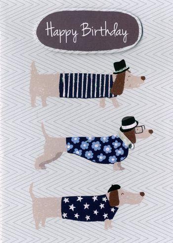 Happy Birthday - 3 Dogs - Birthday Card