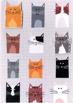 Handmade Cats Card - Blank