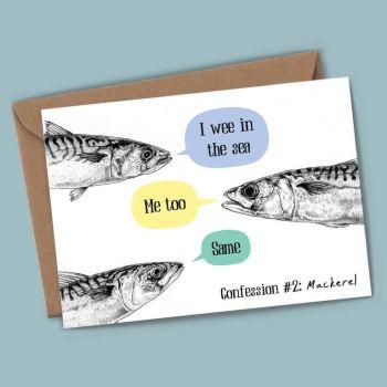 Mackerel Confession - Blank Card