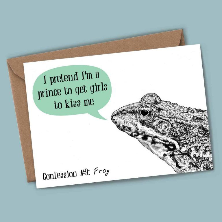 Frog Confession - Blank Card