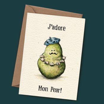 J'adore Mon Pear - Blank Card