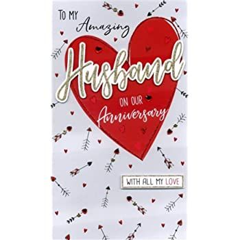 To My Amazing Husband On Our Anniversary With All My Love - Large Handmade