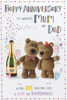 Happy Anniversary To A Wonderful Mum and Dad - Card