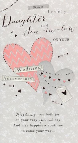 For A Lovely Daughter And Son In Law On Your Wedding Anniversary - Card