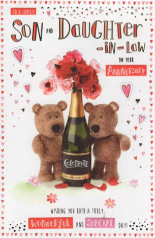 To A Lovely Son And Daughter In Law On Your Anniversary - Card