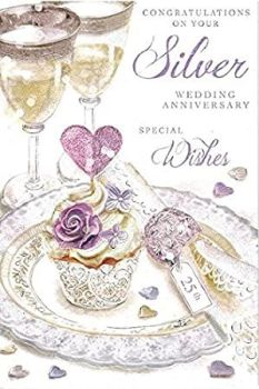 Congratulations On Your Silver Wedding Anniversary - Card