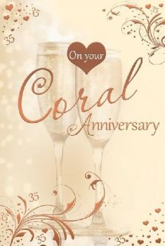 On Your Coral Anniversary 35 Years - Card