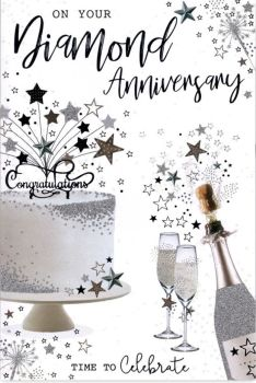 On Your Diamond Anniversary Time To Celebrate - Card