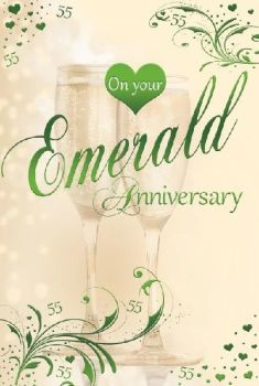 On Your Emerald Anniversary 55 Years - Card
