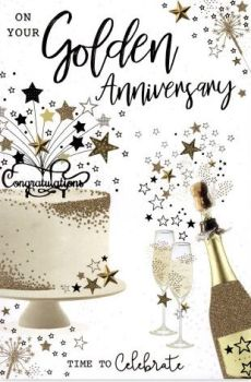 On Your Golden Anniversary Time To Celebrate - Card
