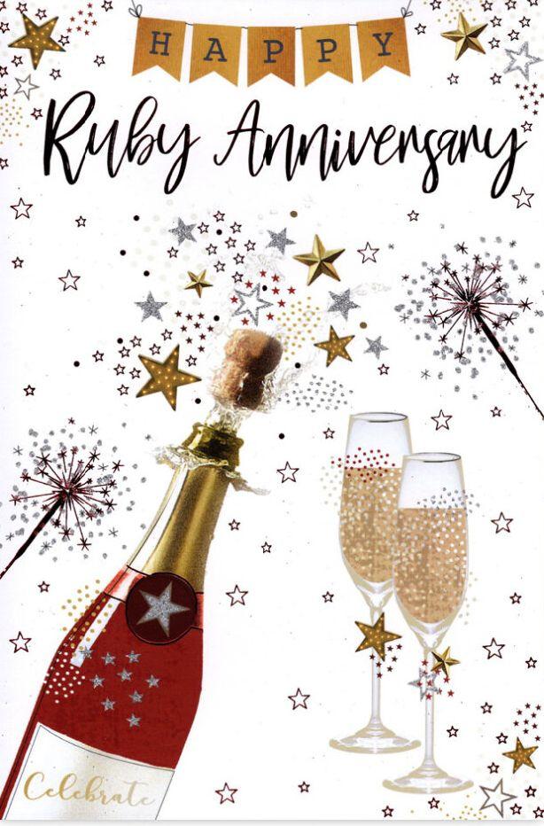 Happy Ruby Anniversary - Card