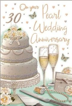 On Your Pearl Wedding Anniversary 30 Years - Card