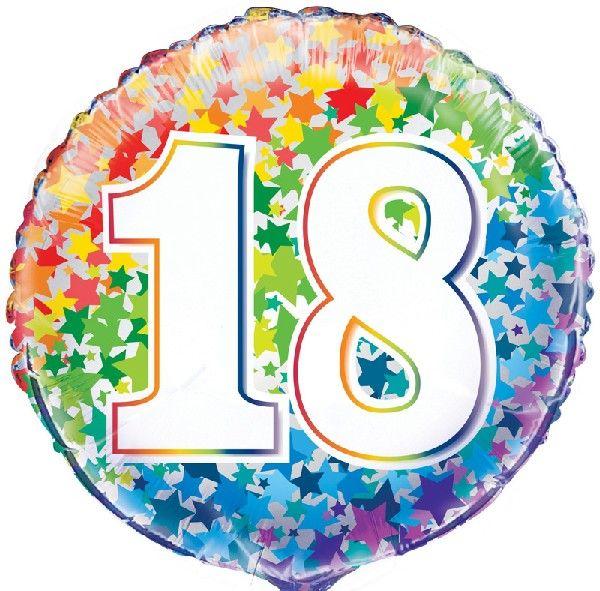 18th Foil Balloon Stars