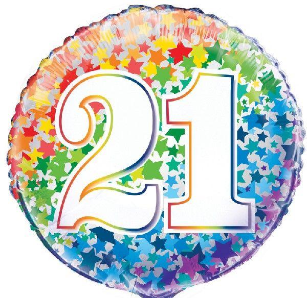 21st Foil Balloon Stars