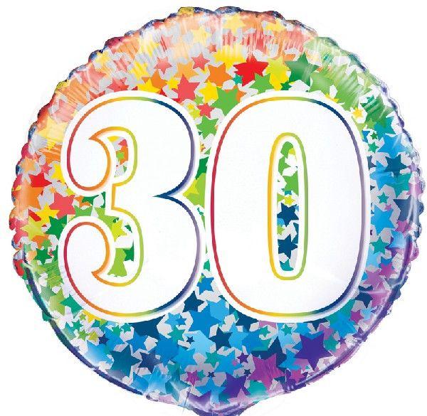 30th Foil Balloon Stars