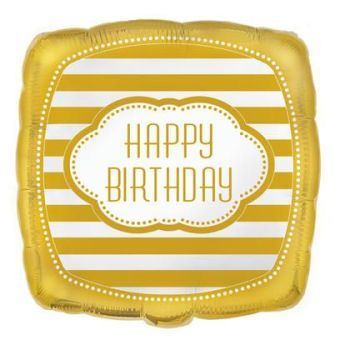 Happy Birthday Foil Balloon Gold