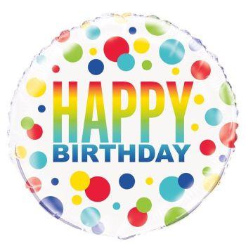 Happy Birthday Foil Balloon Multi
