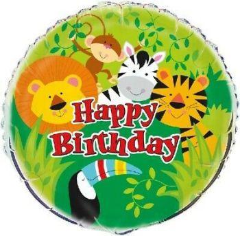 Happy Birthday Foil Balloon Animals