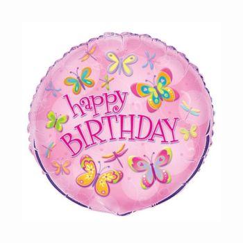 Happy Birthday Foil Balloon Butterfly