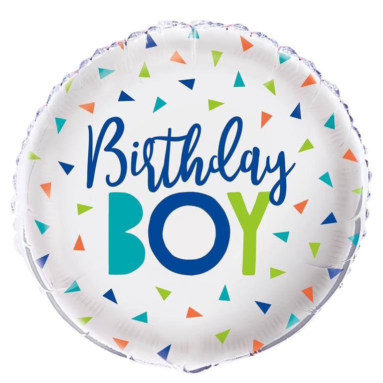 Birthday Boy Foil Balloon
