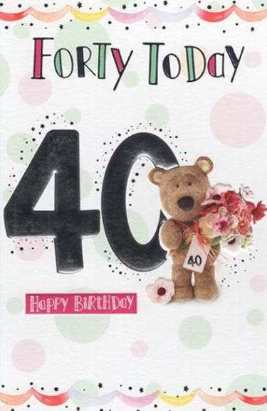 40 Today Happy Birthday - Teddy