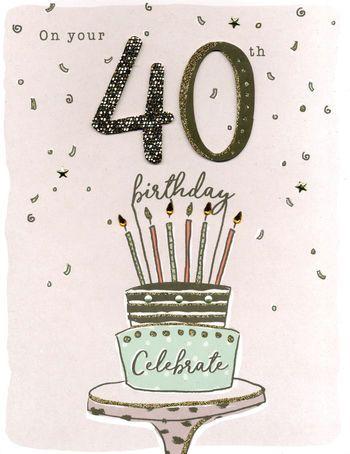On Your 40th Birthday - Giant Birthday Card