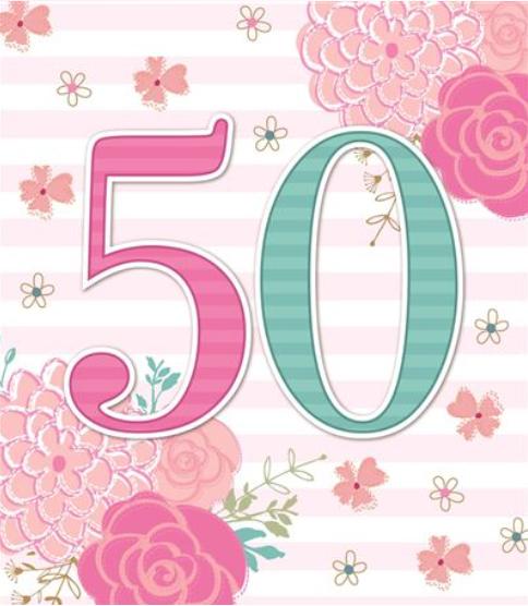 50 Flowers - Birthday Card