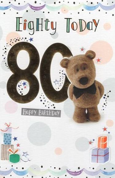 80 Today Happy Birthday - Teddy