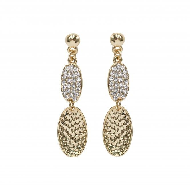 Gold Plated Crystal Style Drop Earrings