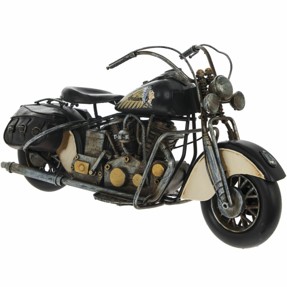 Tin Model Motorcycle Indian Chief Style Motorbike 36cm