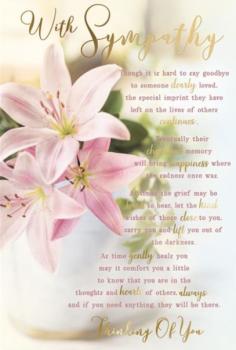 With Sympathy - Card