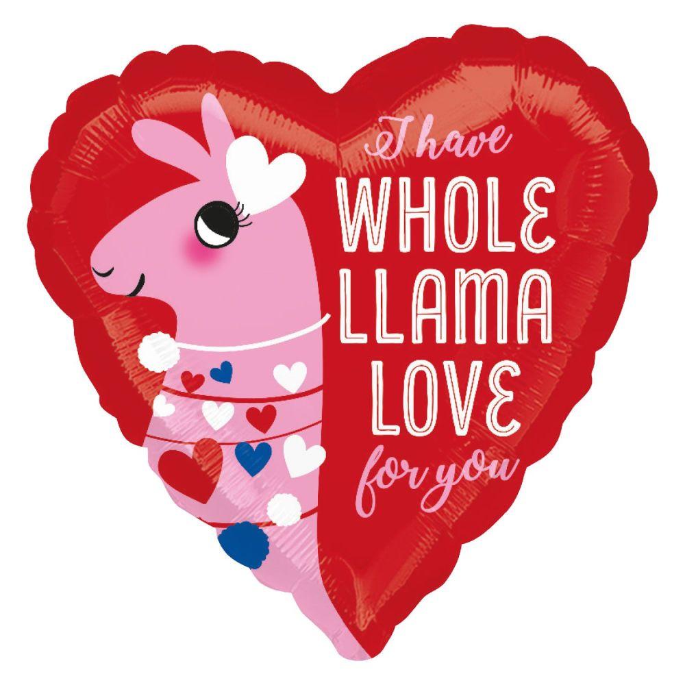 I Have A Whole Llama Love For You Foil Balloom
