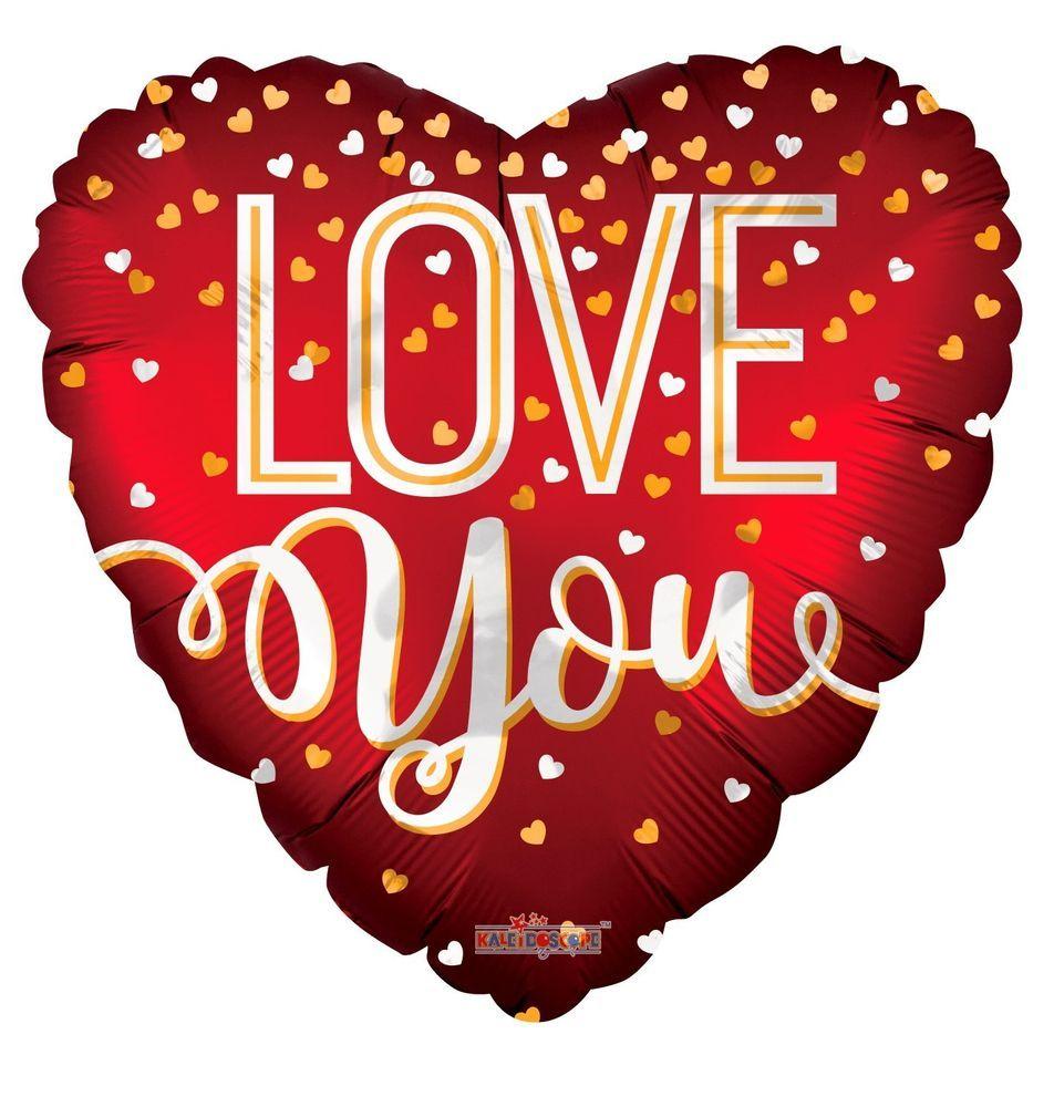 Matt Red Love You Foil Balloon